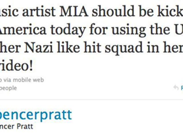 Spencer Pratt Wants M.I.A. Deported