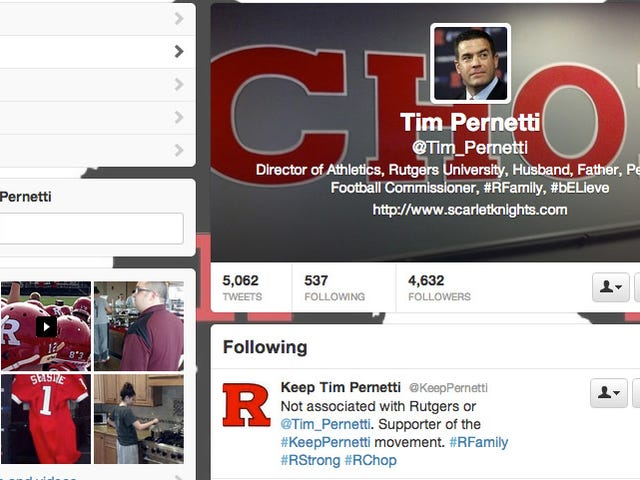 "Did Tim Pernetti Create A ""Keep Tim Pernetti"" Twitter Account?"