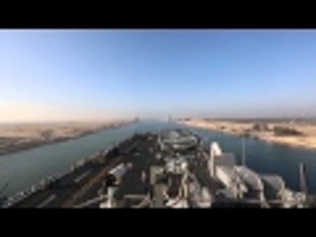 USS Kearsarge Suez Canal Transit In 60 Seconds