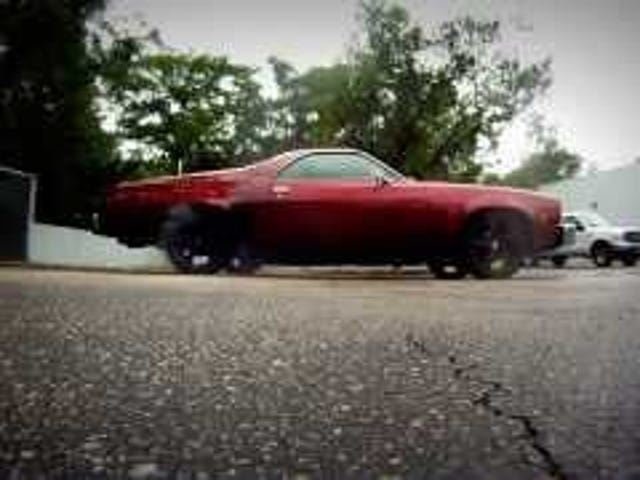 TurboDiesel El Camino doing a burnout