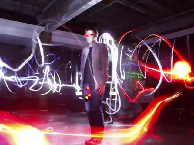 Bullet Time Light Painting Makes Beautiful 3D Graffiti