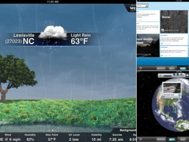 The Weather Channel iPad App Looks a Whole Lot Different