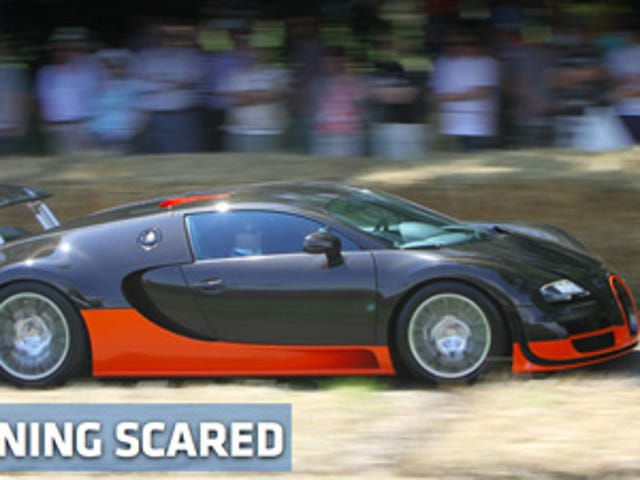 What car made the Bugatti Veyron SS back down from a fight?