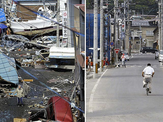 Before and After: Japan Slowly Recovers From The Tsunami
