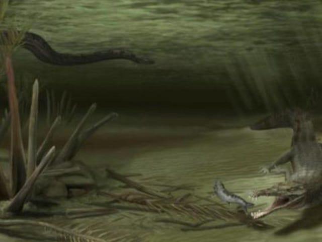 The ancient war between 20-foot crocodiles and 50-foot snakes