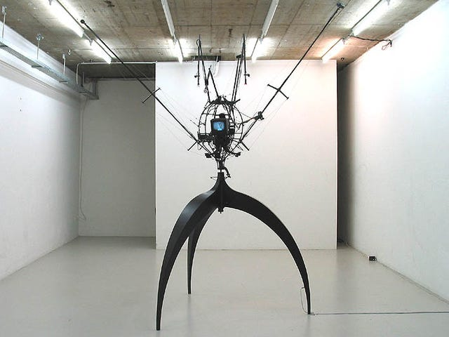 Robotic Sculptures Are Surveillance Cameras in Disguise