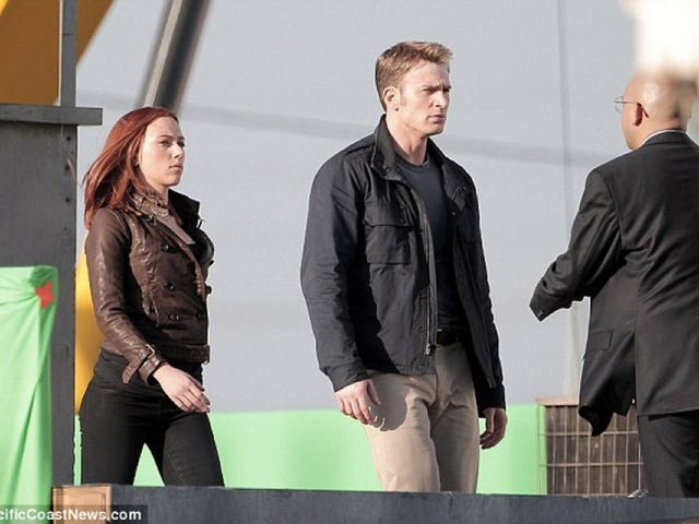 Steve Rogers has a problem with authority on the Captain America 2 set