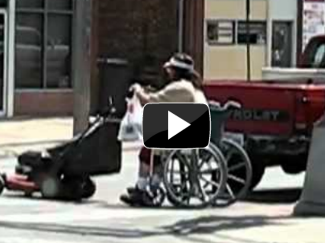 Motorizing a Manual Wheelchair With a Friggin Lawnmower