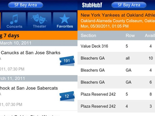 StubHub Lets You Buy Tickets from Your Android Phone