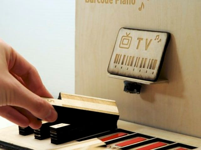 Use Barcodes to Play a Piano