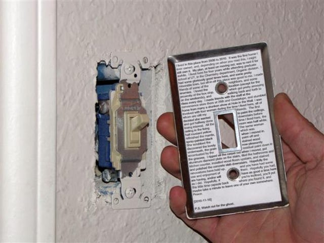 The Next Time You Move Out, Leave A Time Capsule Behind The Light Switch