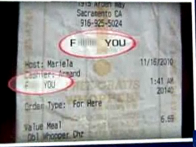 Burger King Employees Fired For Printing 'F— You' On Customer's Receipt