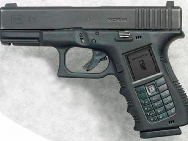 Nokia Handgun Cellphone Is Ultimate Redneck Convergence Device