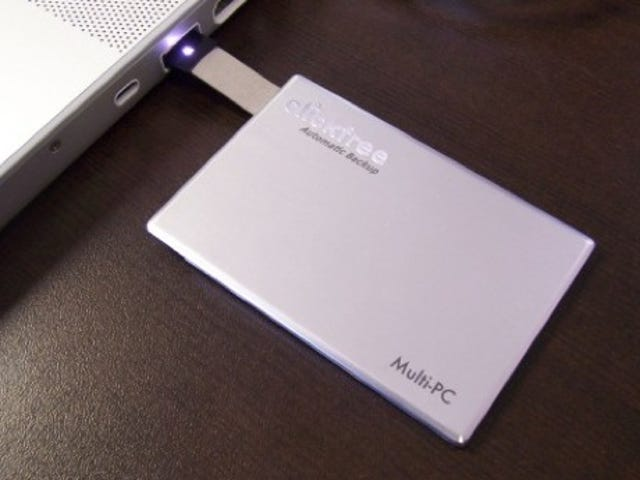 Clickfree Traveler External SSD is Credit-Card Sized For Convenience