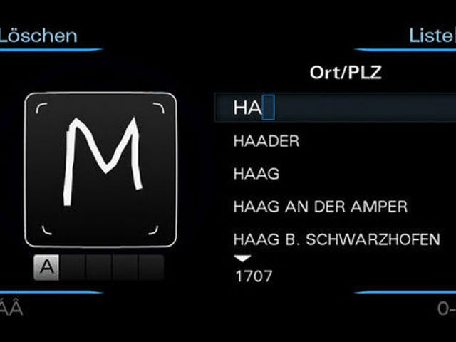 Next-Gen Audi A8 Includes Handwriting Recognition, Bafflingly