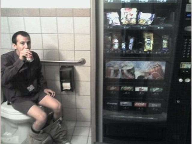 Vending Machine in a Bathroom: the Circle of Life