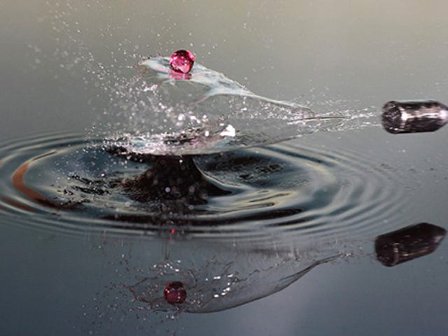 What It Looks Like When a Bullet Slices Through a Water Droplet