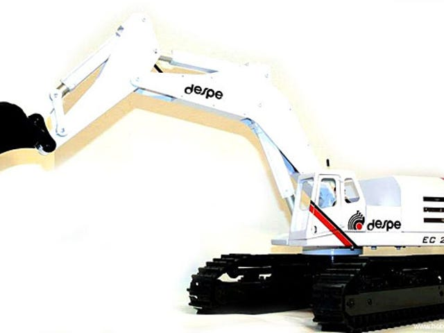 A Working 62-lb Remote-Controlled Excavator Can Hardly Be Called a Toy