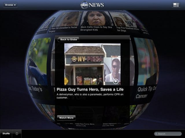 Navigate The 3D Globe of News