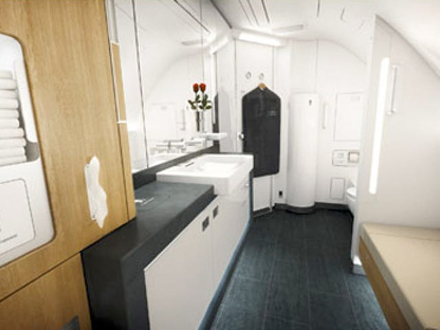 Lufthansa's New Airbus A380's First Class Bathrooms Are Bigger Than Mine