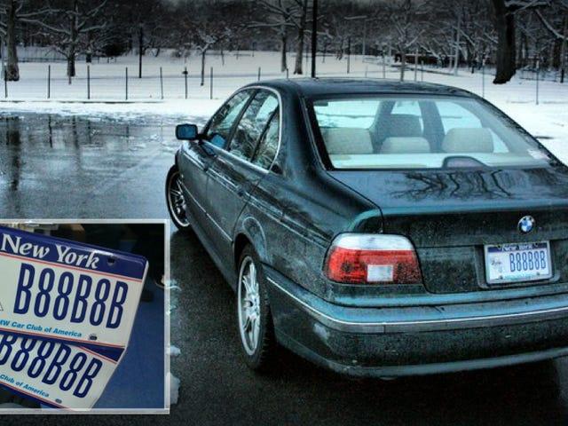 The New York DMV sent me stolen license plates