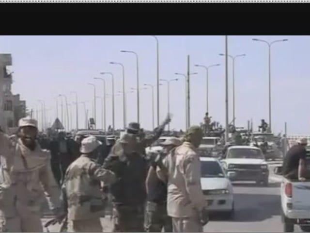 Watch Libyan rebels celebrate Gaddafi's death with car stunts