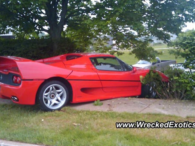 FBI doesn't have to pay for wrecking $750,000 Ferrari F50