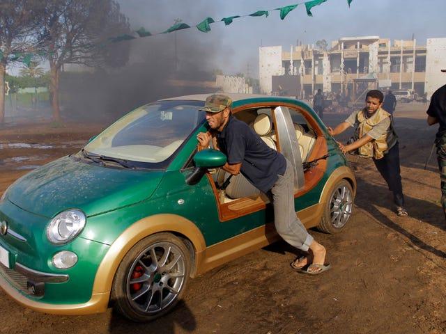 Libyan rebels liberate Gaddafi's custom Fiat 500