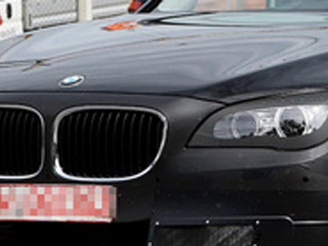 New BMW 7 Series out in public with bandages from minor facelift