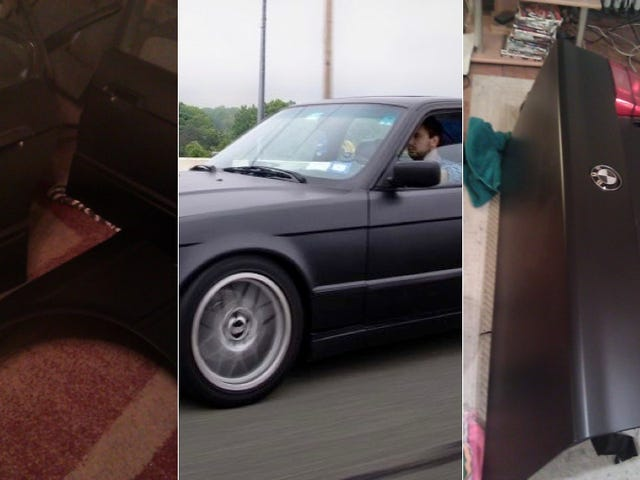 How I painted a BMW in my tiny New York Apartment
