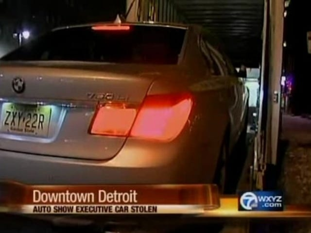 Thieves Swipe 7-Series From BMW At Detroit Auto Show