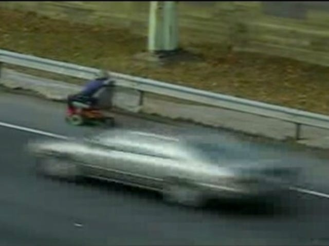 Watch An Electric Wheelchair Rider Take The Freeway Exit
