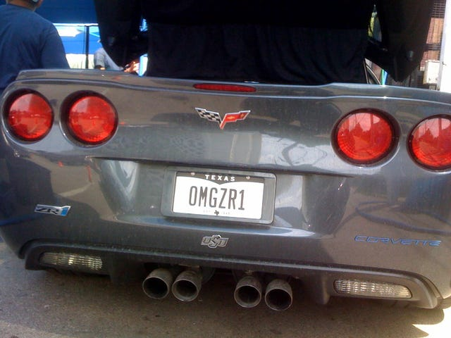 Best. Corvette ZR1 License Plate. Ever.