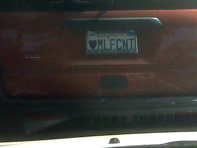 Best. Vanity License Plate. Ever.