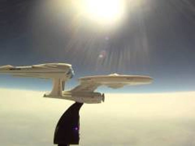 Watch a model Enterprise fly into the stratosphere