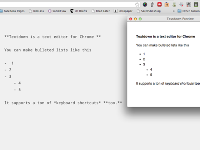 Textdown is a Powerful Markdown Text Editor that Runs in a Browser Tab
