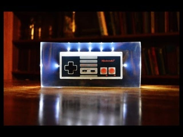Turn an NES Controller into a Night Light