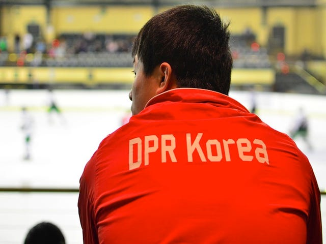 Photos: The North Korean Hockey Team