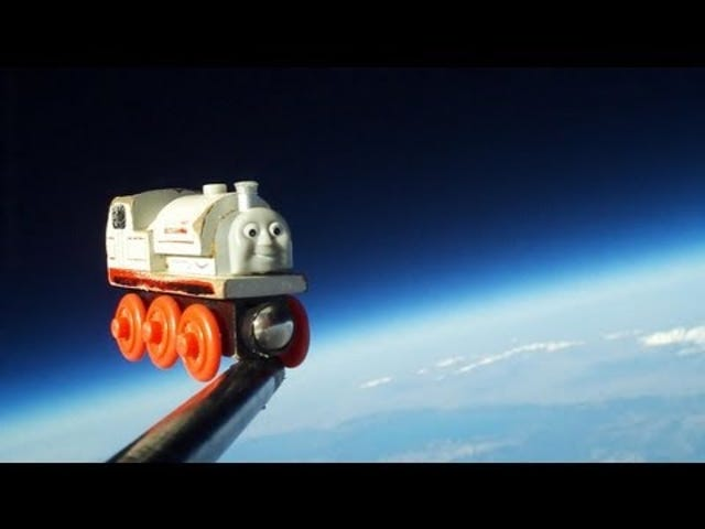 Sending Your Son's Favorite Toy Train to Space Is Probably the Coolest Thing a Dad Can Do