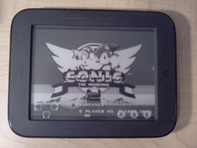 The Nook Simple Touch Can Play Sonic Better Than a Game Boy