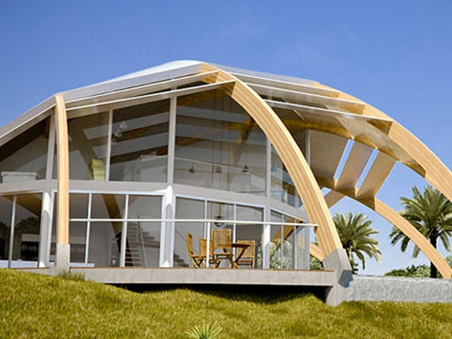 This House Provides Sustainable Energy in a Half-Shell