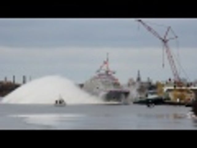 Launching A Warship Is Like Dropping A Toy Boat In A Bathtub