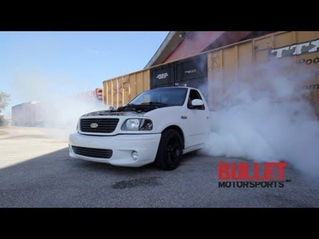 This Is What A Massive Ford SVT Lightning Burnout Looks Like