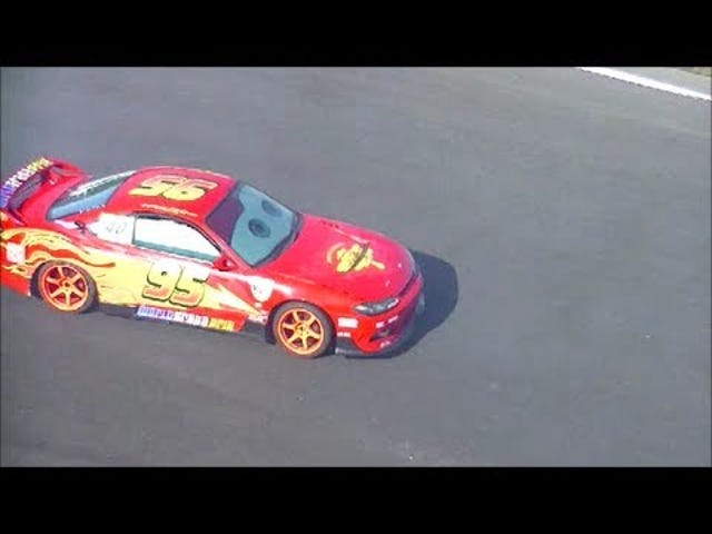 Somebody Built A Lightning McQueen Drift Car