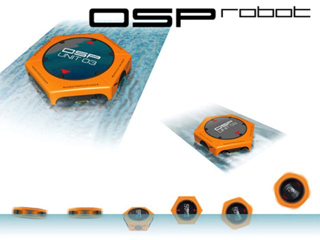 OSP Robot Is Human Sized Roomba For Oil Spills