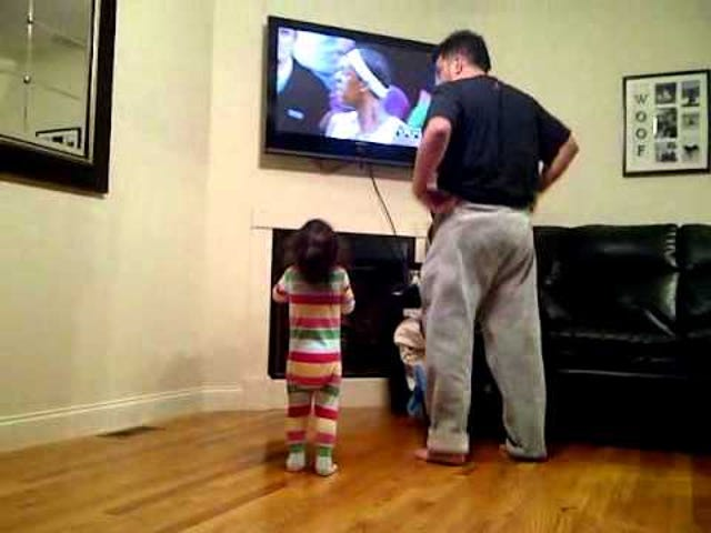 Father Accidentally Teaches His Daughter How to Be a Foul-Mouthed Sports Fan