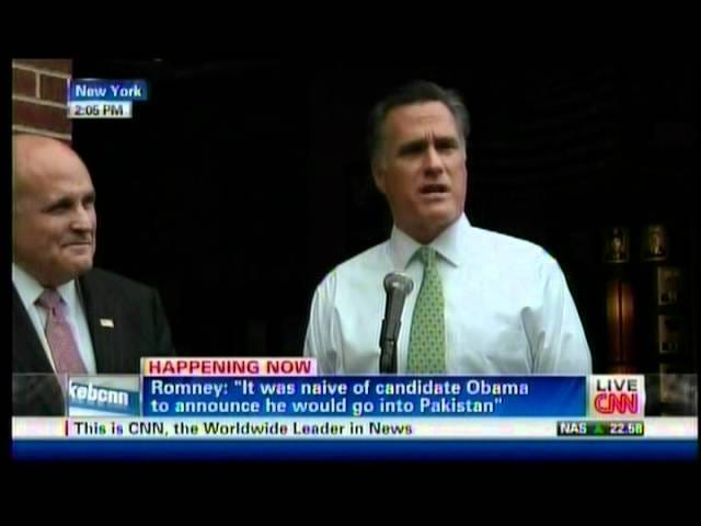Mitt Romney Laughs Uncomfortably as Woman Interrupts Press Conference to Call Him a Racist