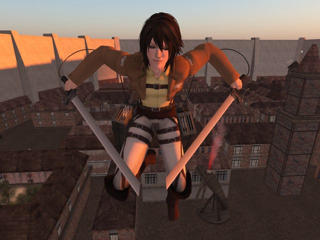 Now There's An Attack On Titan 3D Action Game In Second Life