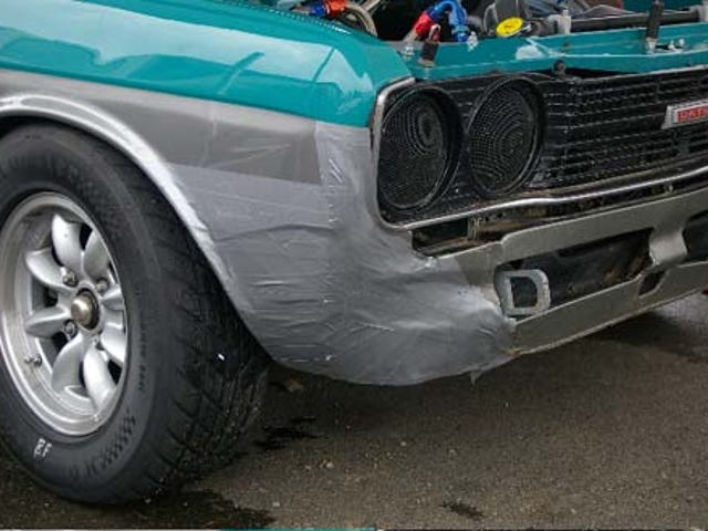Duct Tape Saves The Day For Vintage Racer's Datsun 510