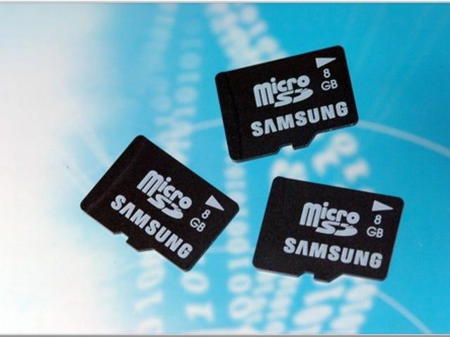 Samsung 8GB Cell Phone Memory Card vil lade dig gemme alle de stenede film på din celle